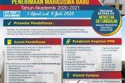 Penerimaan Mahasiswa Baru Tahun 2020/2021