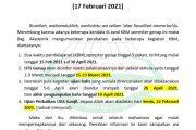 Info Perubahan Jadwal KBM, UTS & Ujian Bahs Semester Genap 2020/2021.