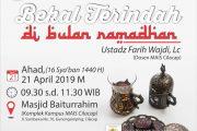 Tabligh Akbar: Bekal Terindah di Bulan Ramadhan
